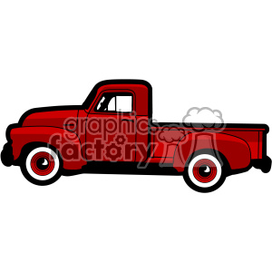 old 1954 pickup truck profile vector image clipart. Royalty-free image # 402338