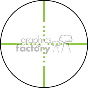 vector reticle aim sight green ir mil dot image clipart. Royalty-free image # 402366