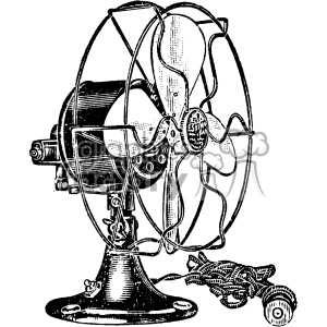 vintage fan vector vintage 1900 vector art GF clipart. Commercial use image # 402466