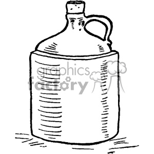 vintage moonshine jug vector vintage 1900 vector art GF clipart. Commercial use image # 402496