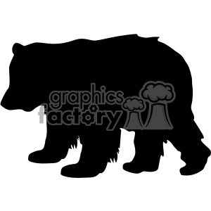 baby little bear silhouette vector svg cut files clipart. Commercial use image # 402611
