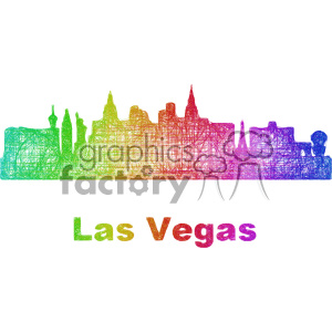 city skyline vector clipart USA Las Vegas clipart. Commercial use image # 402696