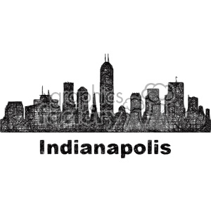 black and white city skyline vector clipart USA Indianapolis clipart. Royalty-free image # 402706