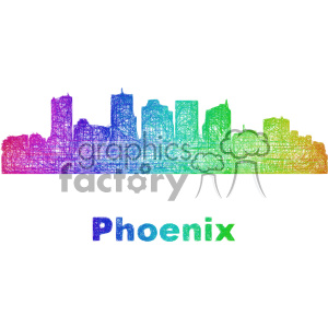 city skyline vector clipart USA Phoenix clipart. Commercial use image # 402736