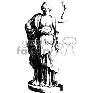 Bernardino Genga human statue art clipart. Royalty-free image # 403118