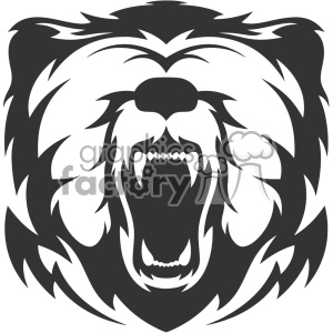 bear head vector art clipart. Royalty-free image # 403148