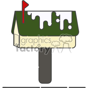 Postbox flat vector icon design clipart. Commercial use image # 403198