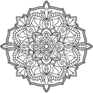 mandala outline vector art clipart. Commercial use image # 403239