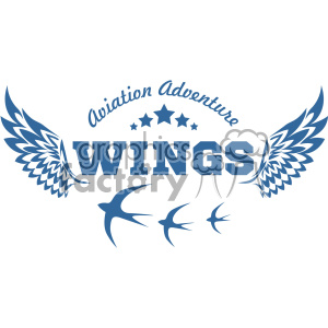 aviation wings vector logo template v4 clipart. Commercial use image # 403259