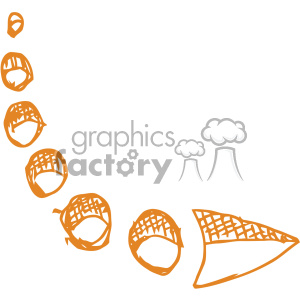 sketched bent right arrow vector art clipart. Royalty-free image # 403279