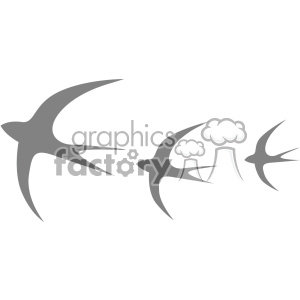 birds in flight vector logo template clipart. Commercial use image # 403309