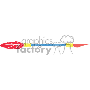 colored arrow vector design 07 clipart. Commercial use image # 403339