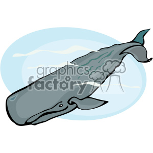 Deep diving Sperm whale clipart. Commercial use image # 132293