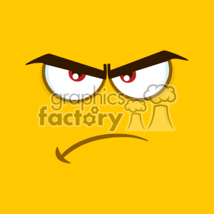 10887 Royalty Free RF Clipart Angry Cartoon Square Emoticons With Grumpy Expression Vector With Yellow Background clipart. Commercial use image # 403572