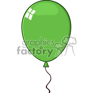 10738 Royalty Free RF Clipart Cartoon Green Balloon Vector Illustration clipart. Commercial use image # 403582