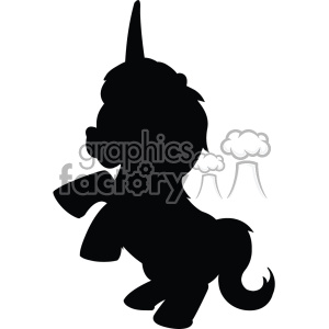 unicorn silhouete svg cut file 6 clipart. Royalty-free image # 403729