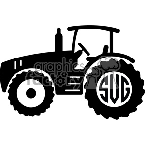 tractor svg initials monogram cut file v4
