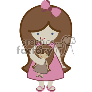 cute little girl svg cut file dxf vector