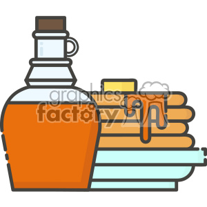 Pancakes and syrup vector clip art images clipart. Commercial use image # 403840