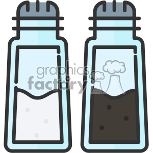 Salt and Pepper Shakers vector clip art images clipart. Commercial use image # 403843