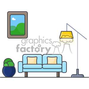 Couch clip art vector images clipart. Royalty-free image # 403903