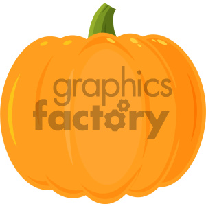 Pumpkin Fruit Cartoon Flat Simple Design Vector Illustration Isolated On White Background clipart. Royalty-free image # 403949