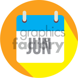 june calendar vector icon clipart. Royalty-free image # 403991