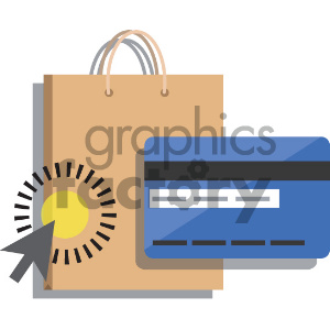 online shopping with credit card vector icon clipart. Royalty-free image # 404046
