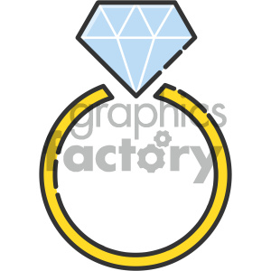 Ring vector art clipart. Commercial use image # 404119