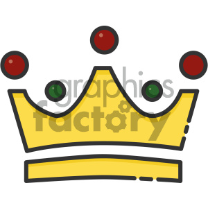 Crown vector art clipart. Royalty-free image # 404123