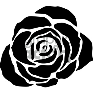 black rose svg cut file clipart. Commercial use image # 404139