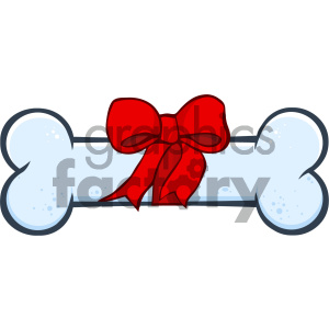 Royalty Free RF Clipart Illustration Dog Bone Cartoon Drawing With Ribbon And Bow Vector Illustration Isolated On White Background clipart. Royalty-free image # 404236