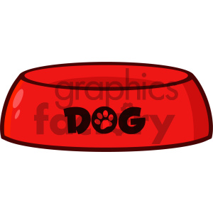 Royalty Free RF Clipart Illustration Red Dog Bowl Drawing Simple Design Vector Illustration Isolated On White Background clipart. Commercial use image # 404249