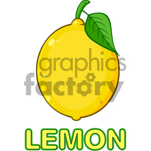 cartoon food mascot character vector happy fruit lemon