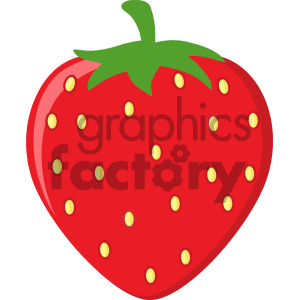 Royalty Free RF Clipart Illustration Strawberry Fruit Cartoon Drawing Flat Design Vector Illustration Isolated On White Background clipart. Commercial use image # 404330