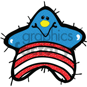 vector art patriotic star 004 c clipart. Royalty-free image # 404718