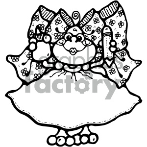 cartoon clipart frog 012 bw clipart. Royalty-free image # 404758