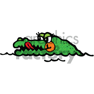 cartoon alligator clipart. Royalty-free image # 404822