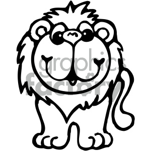 cartoon clipart Noahs animals lion 005 bw clipart. Royalty-free image # 404872