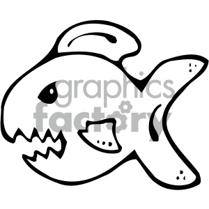 cartoon clipart shark 003 bw clipart. Royalty-free image # 404888