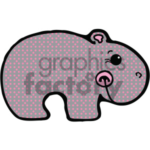cartoon clipart Noahs animals hippo 007 c clipart. Royalty-free image # 404998