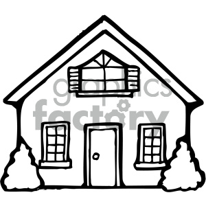 house 001 bw clipart. Commercial use image # 405044
