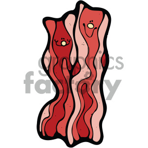 cartoon vector bacon clipart. Royalty-free image # 405079