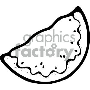 watermelon slice black white clipart. Commercial use image # 405092