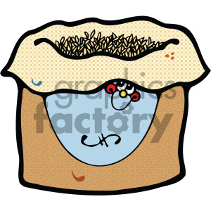 vector cartoon bag of grains clipart. Royalty-free image # 405115
