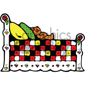 vector bed clipart clipart. Royalty-free image # 405135