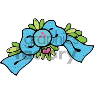 cartoon bow clipart. Royalty-free image # 405139