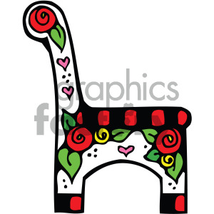 vector chair cartoon with roses clipart. Royalty-free image # 405140