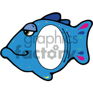 cartoon fish with cut out frame clipart. Royalty-free image # 405185