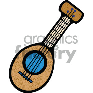 cartoon guitar image clipart. Commercial use image # 405191